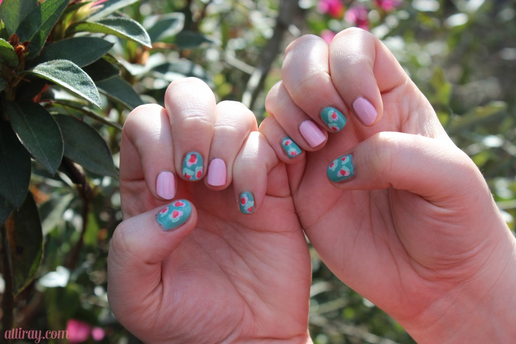 floral nails 1