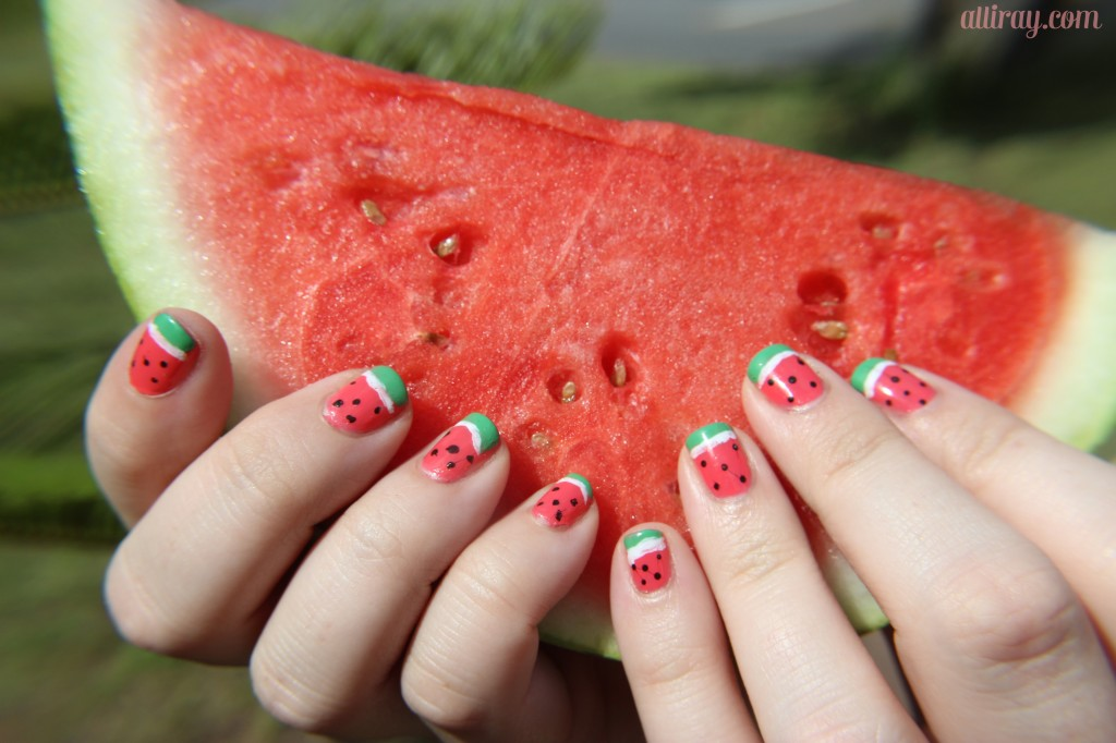 watermelon nails 1